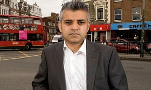 Sadiq Khan MP in Tooting, London, Britain