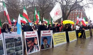 Protest outside the US embassy