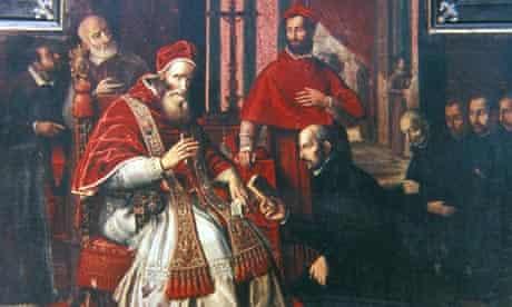 Saint Ignatius Loyola (1491-1556), founder of the