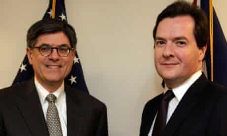 U.S. Treasury Secretary Jack Lew with George Osborne in Washington