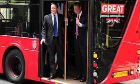 Prince Harry David Cameron Routemaster bus New York