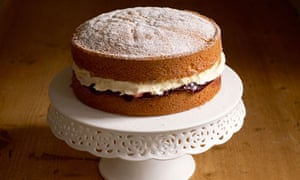 Victoria Sponge Cake. Image shot 2008. Exact date unknown.