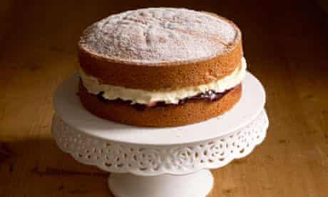 Victoria Sponge Cake. Image shot 2008. Exact date unknown.