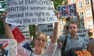 Divided Families Day of Action outside UK Home Office in London