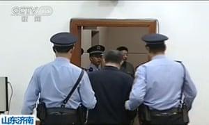 Bo Xilai leaves court