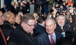 "Mayor Michael Bloomberg ""Clocks Out"" of City Hall"