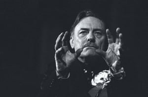 Great press photography: Enoch Powell addressing a meeting in King's Hall, Belfast