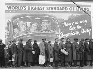 Press photography: African-Americans line up for relief following the 1937 Ohio flood
