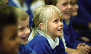 Children at a primary school