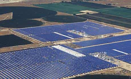 Silicon Valley investors are backing green technologies, such as this solar plant in California