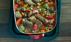 Spanishy ribs and beans