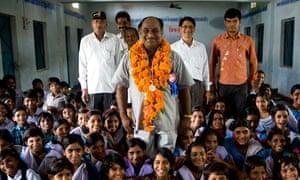 Shri Ram Krishna Bhardwaj, an assistant teacher at Gudbhela School in Sehore district