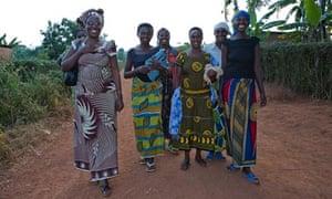 Odette Kayiere, left, winner of the Guardian's International Development Award