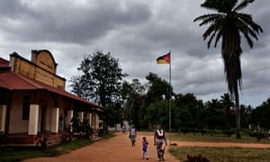 People arrive at the health centre, in Homoine in Inhambane province, Mozambique