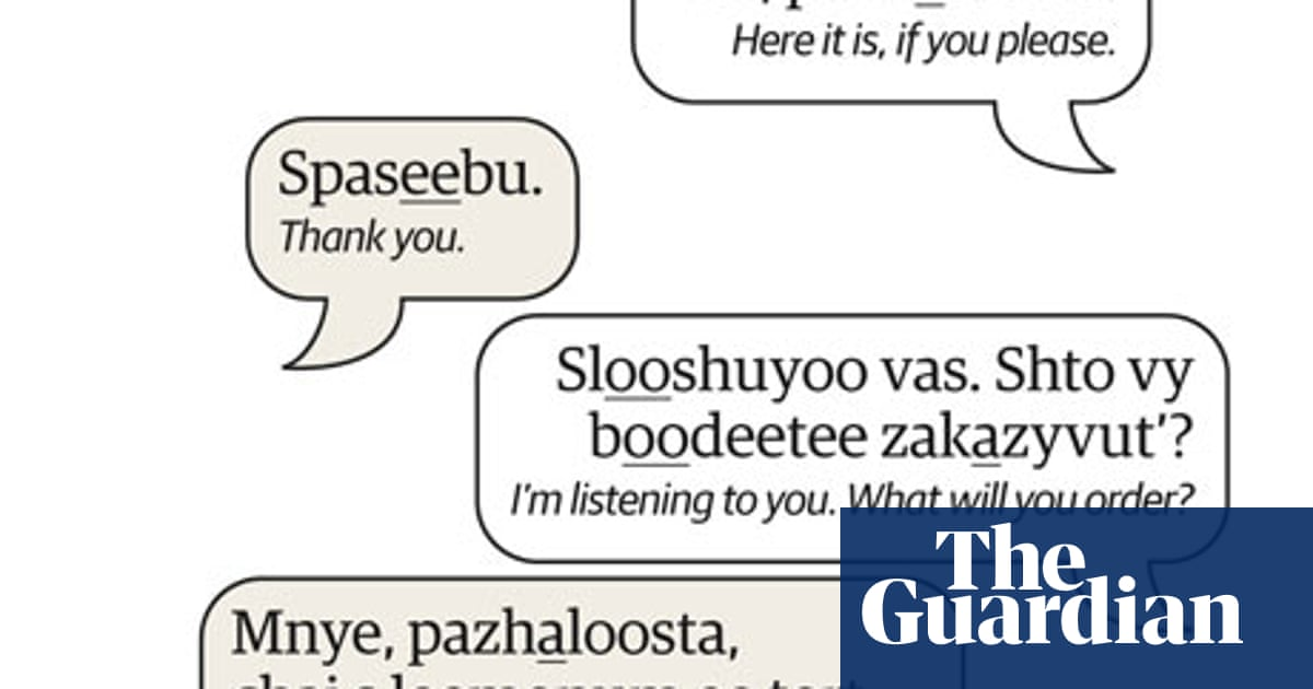 Learn Russian | At a restaurant | Travel | The Guardian