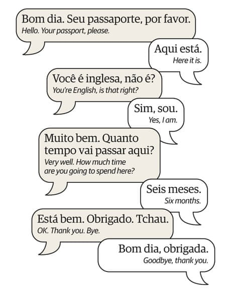 Learn portuguese at the airport travel the guardian m4hsunfo