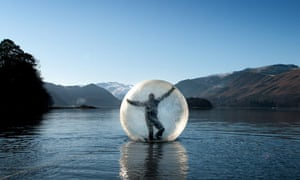 Andrew Spooner water zorbing in the lake district