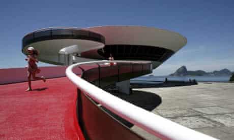 A building designed by Brazilian architect Oscar Niemeyer