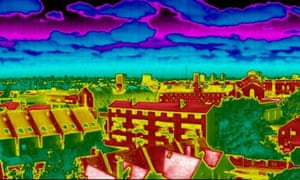 thermal image of houses