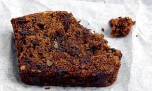 Banana bread with toasted walnuts and dark chocolate