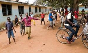 Children playing in Chamwino
