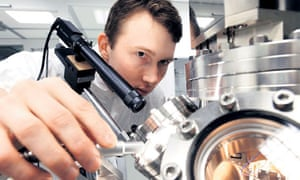Scientist at work in a nanotechnology laboratory