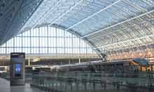 St Pancras train station London Eurostar roof architecture wrought iron