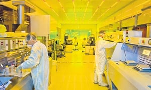 Scientists at work in a nanotechnology lab