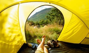 National Trust campsite at Wasdale Head, Cumbria