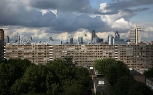 heygate estate london skyline