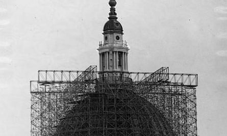 Scaffolding on St. Paul's Dome