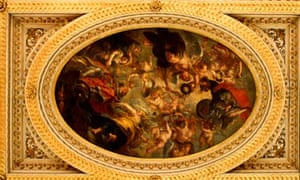 Whitehall banqueting House ceiling, painted by Rubens.