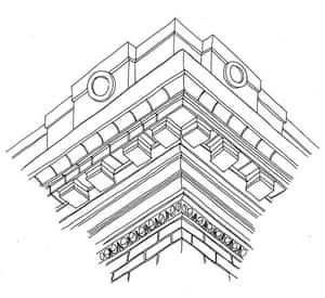 British architecture one: Heavy cornice