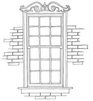 British architecture one: Chunky sash window