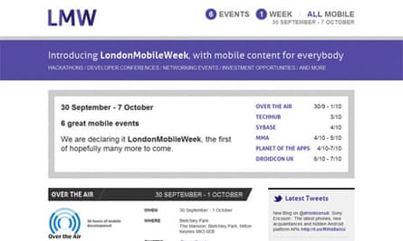 A screengrab of the London Mobile Week website