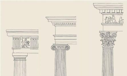 Drawings of the Greek orders