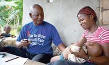 Healthcare worker Mohammed Mansaray in Bendu Kpaka village