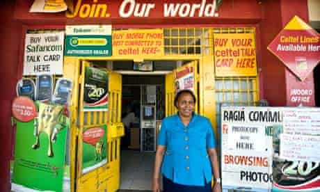 A woman outside her shop in Naivasha