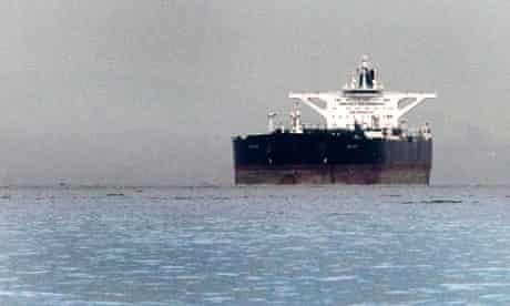 Iranian crude oil supertanker Delvar