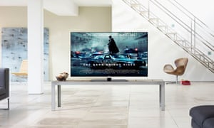 A smart TV showing The Dark Knight Rises