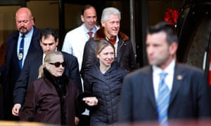 Hillary Clinton leaves hospital
