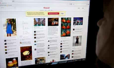 Salesaforce: A woman looks at the internet site Pinte