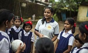 Sujata Ghare mentors girls in Manjarli