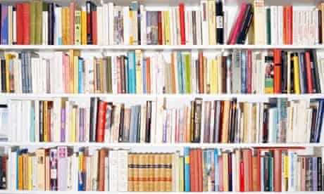 A shelf filled with books