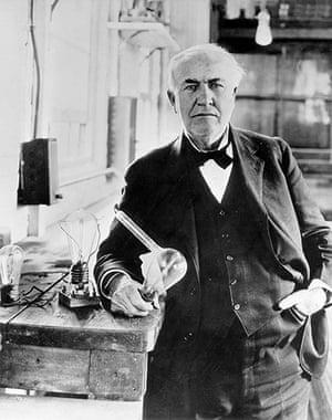 Kyocera | Technologies: Thomas Edison in his laboratory