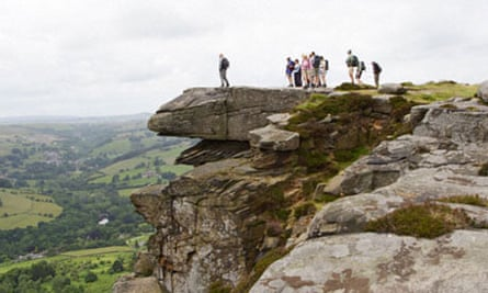 walkers in the peak district, UK