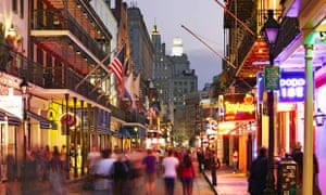 New Orleans, Bourbon Street at night, French Quarter
