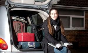 PG: Car College Girl Home Laptop Leaving Teen Teenager