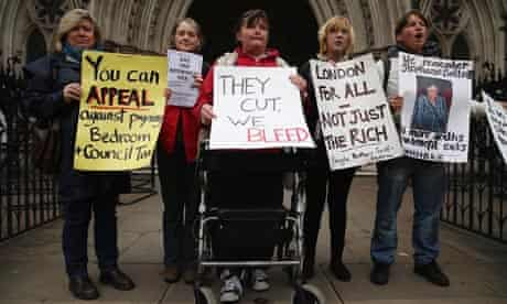 Bedroom tax protesters