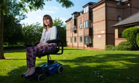 Disab: Portrait of Zoe Hallam who suffers from Muscular Dystrophy